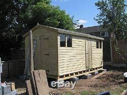 20x10ft Wooden Garden Shed gazebo Tanalised Ultimate Office/Garage