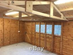 20x12 Large Wooden Garden Shed/ Garage/ Workshop/ Garden Room