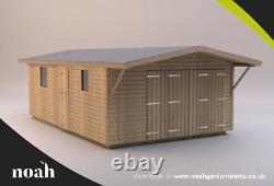 20x12'Swindon Garage' Heavy Duty Wooden Garden Shed/Workshop/Garage