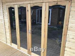 20x8 Bi Folding Doors Summer House Pent Garden Office Shed Summerhouse
