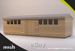 20x8'Don Marino' Heavy Duty Wooden Garden Shed/Workshop/Summerhouse