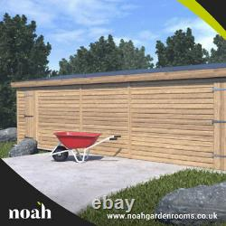 20x8'Whitefield Shed' Heavy Duty Wooden Tanalised Garden Shed/Workshop/Garage