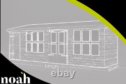 22x10'Frederick' Heavy Duty Wooden Garden Summerhouse/Shed/Workshop/Garage