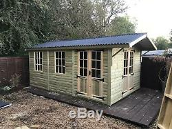 22x10'Georgia' Heavy Duty Tanalised Timber Garden Room Summerhouse Shed Mancave