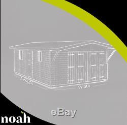 22x10'Swindon' Heavy Duty Wooden Garden Shed/Workshop/Garage Tanalised Bespoke