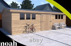 22x12'Drummond Workshop' Heavy Duty Wooden Garden Shed/Workshop/Summerhouse