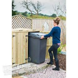 240l Double Wheelie Bin Store Wooden Garden Shed Rubbish Storage