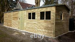 24 x 12 Heavy Duty Scampton Wooden Garage Timber Workshop Garden Shed