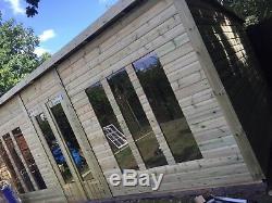 24x10'Statesman Mancave' Heavy Duty Wooden Garden Shed/Workshop/Summerhouse