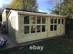 24x12'Ripley Garage' Heavy Duty Tanalised Wooden Garden Shed/Workshop Bespoke