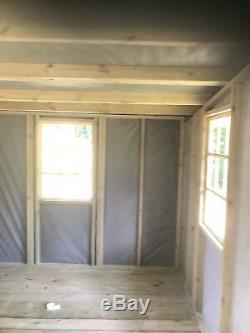 24x12' Summerhouse Ultimate Georgian Garden Shed Pent Roof Log Cabin Total Sheds