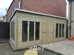 24x8'Statesman' Garden Room Heavy Duty Timber Shed Workshop Summerhouse Bespoke
