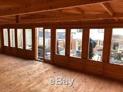 26x14 full pane summer house, man cave, shed, garden building, house