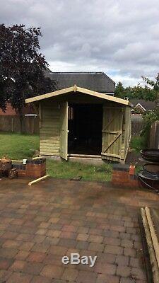 30X10ft Large Workshop Shed Garage Wooden Garden Timber Summer House Double Door