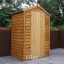 3 x 4 Budget Overlap Windowless Wooden Garden Shed Tool Store Storage NEW