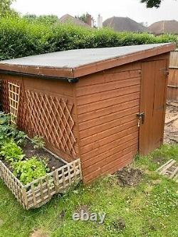 3m x 2m used garden shed. Good solid condition, wooden shed