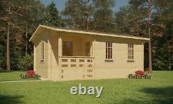 3m x 4.2m Garden Office Log Cabin in 28mm logs Summerhouse Garden Shed Structure