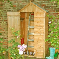 3x2 TOOL STORAGE APEX SHED VERTICAL GARDEN PATIO STORE WOODEN SHIPLAP WOOD 3FT