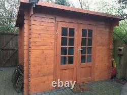 3x2m log cabin / garden summer house / shed. Excellent used condition