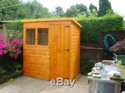 4ft X 4ft Pent Wooden Garden Shed Top Quality Timber
