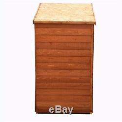 4ft x 3ft Wooden Windowless Overlap Garden Shed with Double Doors and Shelving