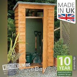 4x2FT OVERLAP WOODEN TOOL STORE SMALL GARDEN STORAGE SHED 4x2 FT 4 x 2