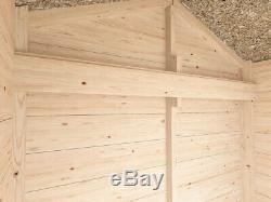 4x2 Heavy Duty Garden Tool Shed Wooden Storage Shelf and Tool Rail Talia