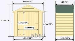 4x6 GARDEN SHED APEX ROOF FLOOR DOOR WINDOWLESS WOOD TOOL BIKE STORE 4ft 6ft DIP