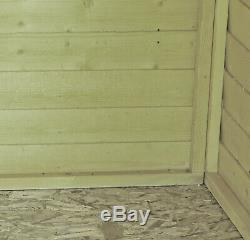 4x6 PRESSURE TREATED GARDEN SHED APEX FLOOR WOODEN TOOL BIKE STORE 4ft 6ft NEW