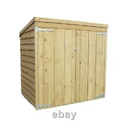 5ft x 3ft WOODEN GARDEN STORAGE PENT SHED OVERLAP PRESSURE MOVER WOOD STORE 5x3