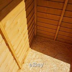 5x3 WOODEN OVERLAP GARDEN STORAGE SHED WINDOWLESS SINGLE DOOR APEX ROOF 5ft 3ft
