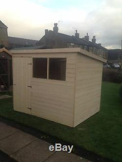 5x4 T&G GARDEN SHED HEAVY 14MM TONGUE AND GROOVE PENT ROOF HUT WOODEN STORE