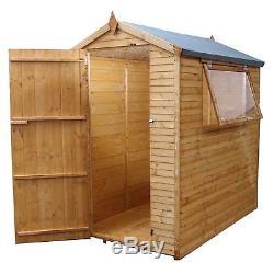 6 x 4 Shiplap Plus Apex Wooden Garden Shed Bike Store Storage NEW