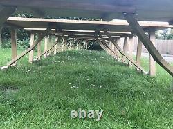 6ft Vintage Wedding Event Garden Potting Shed Trestle Tables With Folding Legs