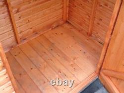 6ft X 2ft 6 Glory Box Tool Shed Wooden Balcony Store Pent T&g Hut 4ft Tall