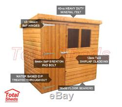 6ft X 4ft Pent Garden Shed Top Quality Timber Wooden