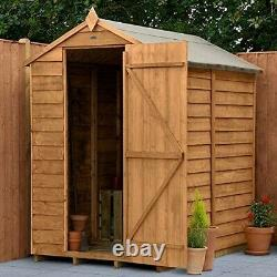 6ft x 4ft Forest Garden Apex Overlap Wooden Shed 10 Year Anti-Rot