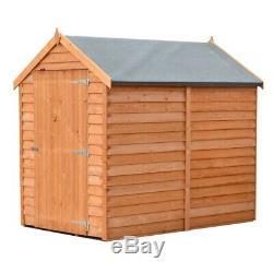 6ft x 4ft Windowless Wooden Overlap Garden Shed with Single Door