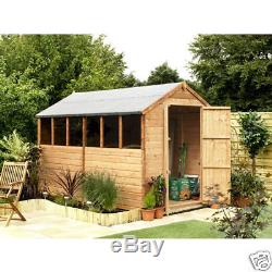 6x10 APEX GARDEN SHED / WOODEN SHEDS/T&G
