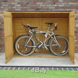 6x2 BICYCLE STORE GARDEN SHED PENT ROOF DOOR WINDOWLESS WOOD BIKE CYCLE 6ft 2ft