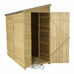6x3 PRESSURE TREATED GARDEN WALL WOODEN SHED NEW UN USED 6ft x 3ft WOOD SHEDS