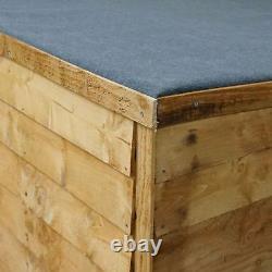 6x3 WOODEN GARDEN BIKE STORE DOUBLE DOOR FLOOR PENT ROOF FELT WOOD GARDEN SHED