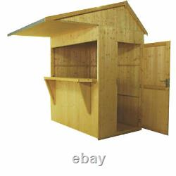 6x4 GARDEN BAR SHED OUTDOOR WOODEN DRINKS HATCH PATIO SHIPLAP TIMBER WOOD STORE