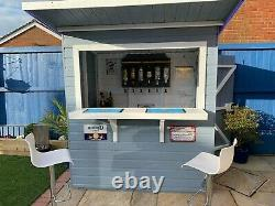 6x4 GARDEN BAR SHED WOODEN DRINKS HUT SHIPLAP T&G OUTDOOR KIOSK DOOR RIGHT