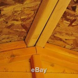 6x4 GARDEN SHED APEX ROOF FLOOR DOOR WINDOW WOOD TOOL BIKE WOODEN STORE 6ft 4ft