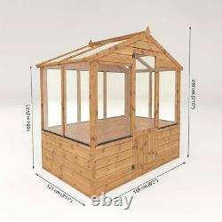 6x4 GREENHOUSE GARDEN SHED TIMBER WOOD POTTING SHEDS APEX SMALL WOODEN 6FT 4FT
