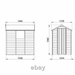 6x4 Overlap Dip Treated Apex Wooden Garden Shed Base & Installation Options