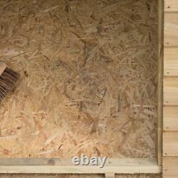 6x4 PRESSURE TREATED APEX WOODEN GARDEN STORAGE SHED FLOOR WINDOW FELT 6ft 4ft
