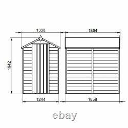 6x4 PRESSURE TREATED WOODEN GARDEN SHED APEX ROOF SINGLE DOOR WINDOW 6ft x 4ft