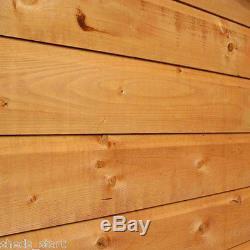 6x4 Shiplap Wooden Garden Shed Single Door Pent Roof Felt & Floor Windows 6FT